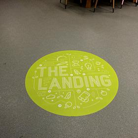 Wayfinding floor graphic