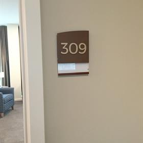 Custom made room numbers