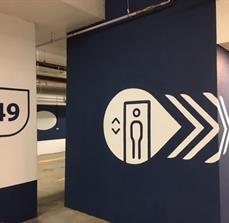 Pierside - Directional Lift Signage
