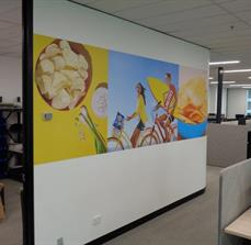 Pepsico - Print Room Wall Graphic Strip