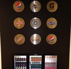 Pepsico - Stainless Steel Logo Wall