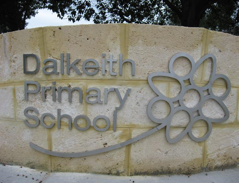 School entry sign
