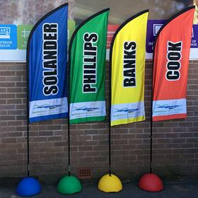 Tear drop banners school sports carnival