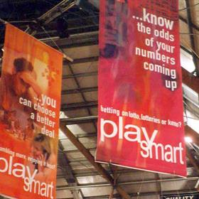 Fabric banners indoor