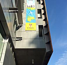 Large scale building banners
