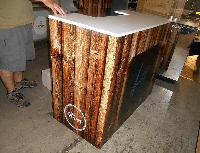Wood grain counter graphic