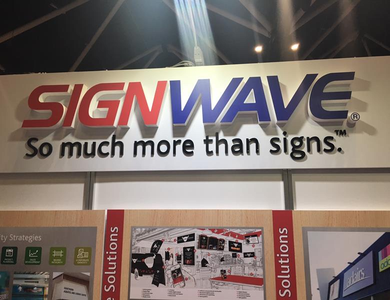3D lettering on header board