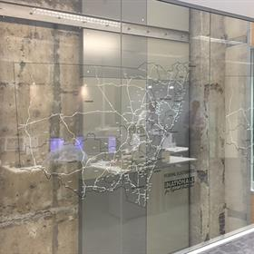 Glass graphics - maps