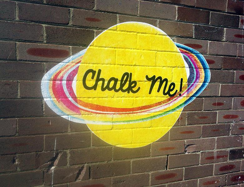 Chalk me brick decal
