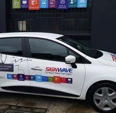 Full branded vehicle wrap