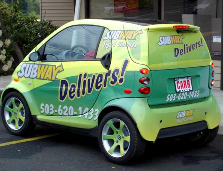 Smart car with full wrap