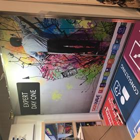 Expo wall graphics in panels