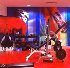 Gym wall graphic