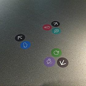 Vinyl floor graphic - wayfinding