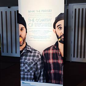 Promotional pull up banner