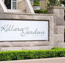 Recessed outdoor sign