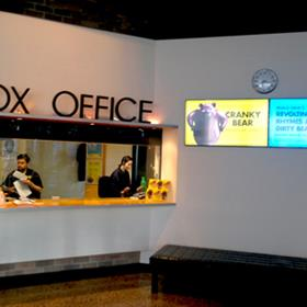 Box office digital display screen