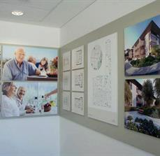 Block mount architectural office display