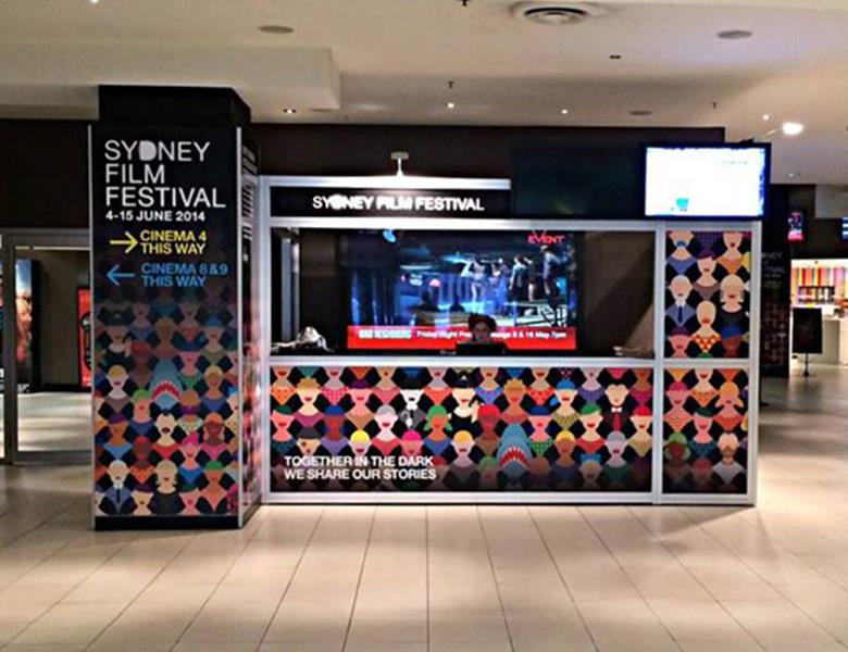 Festival ticket booth