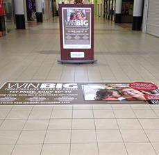 Promotional floor graphic