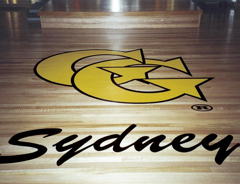 Logo floor graphic