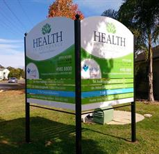 Health centre road signage