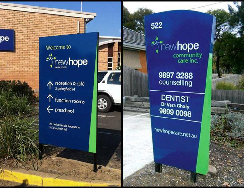 Way finding & free standing solutions