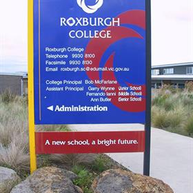 Free standing college sign