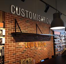 3D routed lettering for Harley Davidson