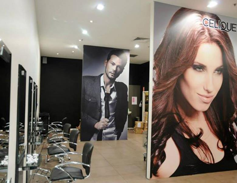 Wall graphics  - hair salon