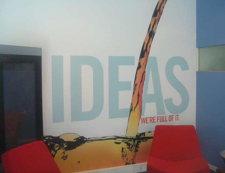 IDEAS wall graphic