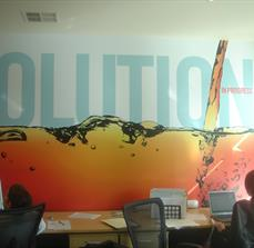 SOLUTIONS wall graphic