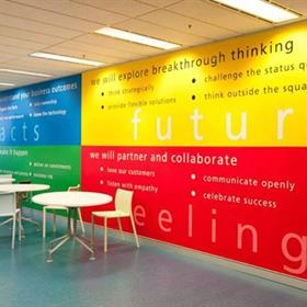 Multi-colour wall graphic