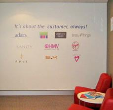 Logo wall graphic