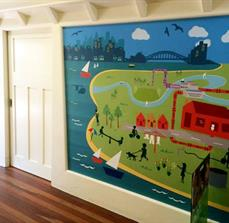 Sydney Harbour wall graphic