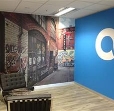Adjoining wall graphics