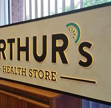 Health store light box