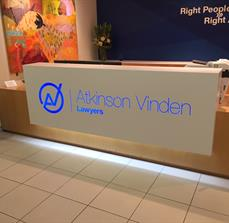 Intracut Illuminated Reception sign