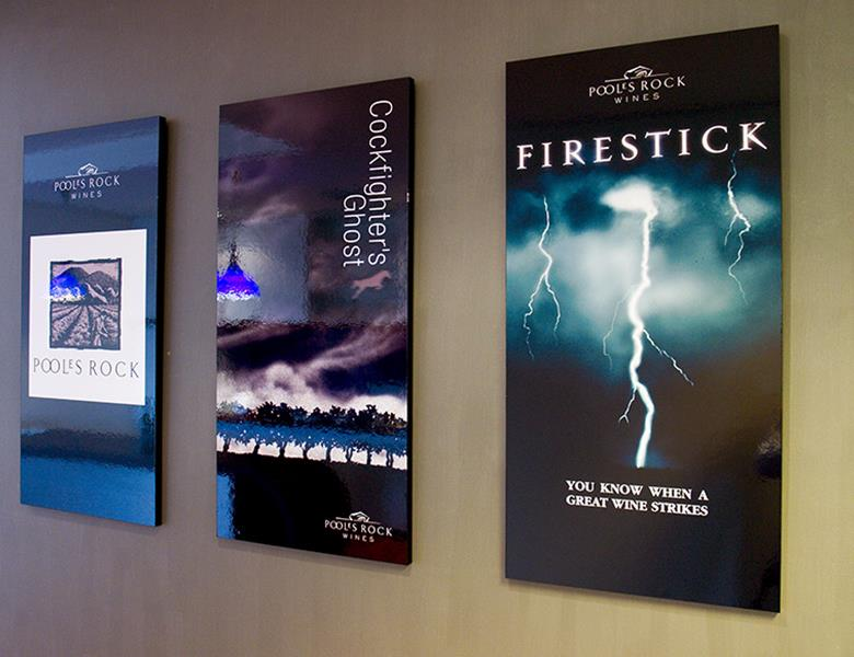 Block mounted posters