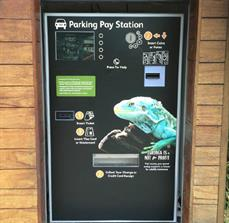 Parking pay station graphic