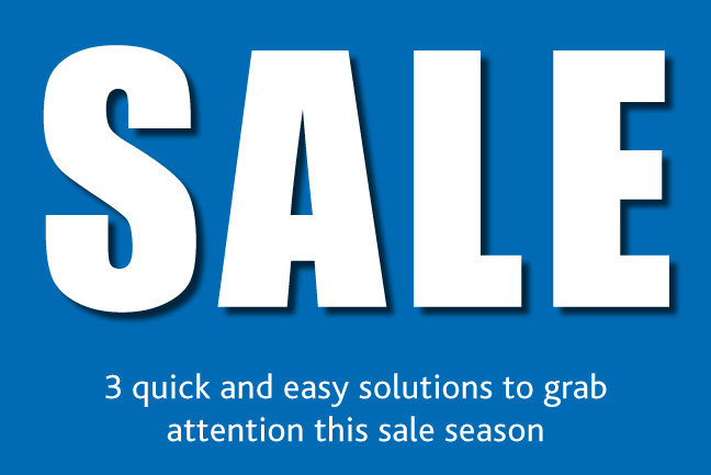 What is sale signage?