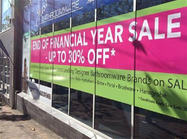 End of financial year sale sign